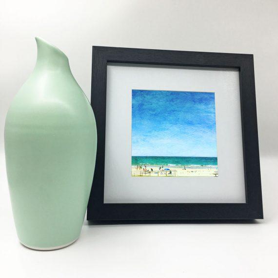 Mollymook-Sunshine-framed-wall-art-photography-art-black-frame-situ