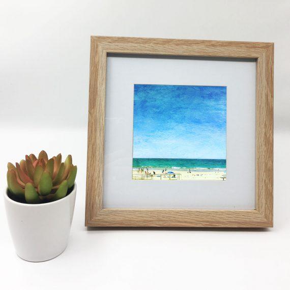 Mollymook-Sunshine-framed-wall-art-photography-art-wood-frame-situ
