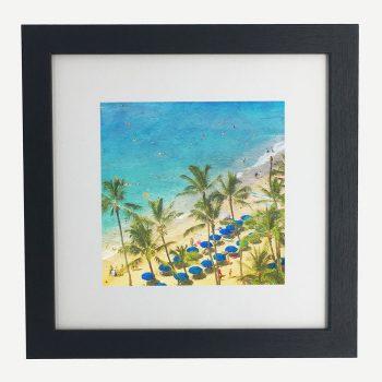 Waikiki-framed-wall-art-photography-art-black-frame