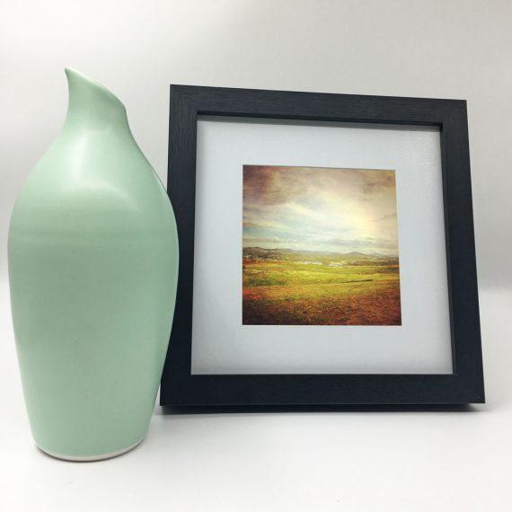 WideBrownLand-framed-wall-art-photography-art-black-frame-situ