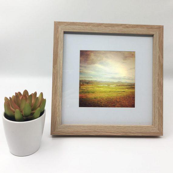 WideBrownLand-framed-wall-art-photography-art-brown-frame-situ