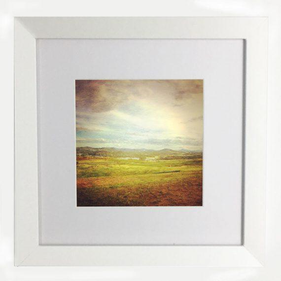 WideBrownLand-framed-wall-art-photography-art-white-frame