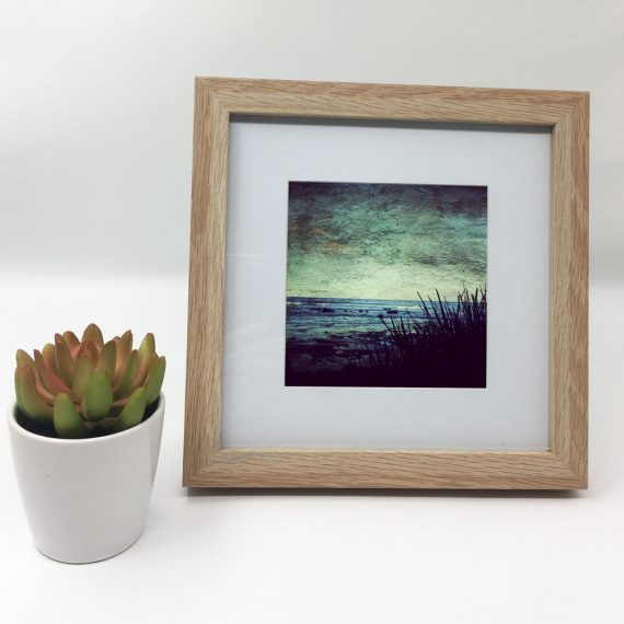 CoastalGoodness-framed-wall-art-photography-art-brown-frame-situ