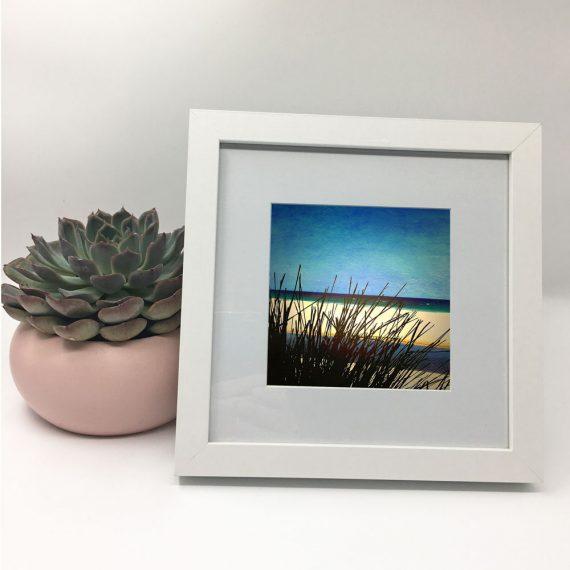 MollymookBeach-framed-wall-art-photography-art-white-frame-situ
