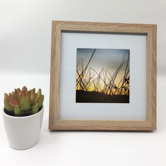 SunsetLyons-framed-wall-art-photography-art-brown-frame-situ