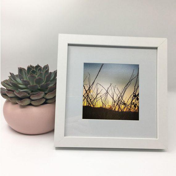 SunsetLyons-framed-wall-art-photography-art-white-frame-situ