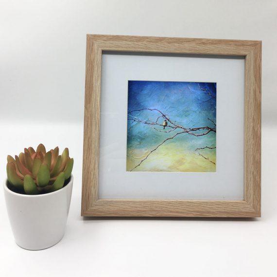 littleredbirdy-Artist-framed-wall-art-photography-art-brown-frame-situ